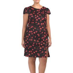 Betsey Johnson Cherry Fruit Print Sheath Dress